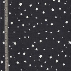 Tissu en coton enduit noir à pluie d'étoiles blanches @ Alittlemercerie 7€ / coupon 50x70 cm