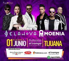 Confirmado Belanova y Moenia juntos en Tijuana este primero de Junio en Audiorama del Museo Interactivo El Trompo  #Hayqueir!