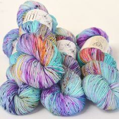 Handdyed Yarn, Indieyarn, Yarn, Knitting, Fingering Weight Yarn –