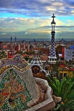 Park Guell - Barcelona, Spain #travel #cities #mosaic #wonderlust