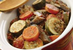 14 DIFFERENT No-Fail POTLUCK DISHES Everyone Will Want the Recipes For Appetizers, sides, mains and desserts that are a snap to make ahead, easy to throw in a car and guaranteed to wow the crowd.  (Pictured:  Lentil Ratatouille) Oprah.com