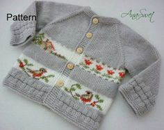 This listing is for the PDF of the knitting pattern . This ittle cardigan is an easy knit, worked in stockinette , with a effective decoration. Suitable for the advanced beginner. The pattern comes with schematics. This pattern comes with Schematics, Diagram and Written detailed instructions with Conventional international symbols. The design is AnaSwet.  Skill Level: Intermediate Language: English Format: Downloadable PDF Size:newborn(3 months) Use thinner yarn and smaller needles for a…
