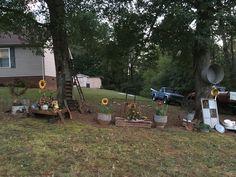 Fall Junk Garden