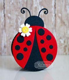 Cards by Kerri: TE Sneak Peeks: Happy Birthday Little Lady! Origami, Lady Bug, Birthday Cards, Happy Birthday, Bee Cards, Shaped Cards, Kids Cards, Homemade Cards, Paper Flowers
