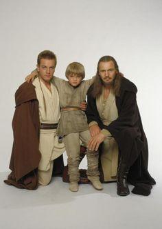 Obi wan,Baby Anakin and Qui Gon