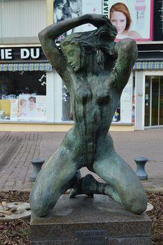 Statue en bronze de François Cacheux. Sarrebourg. Lorraine
