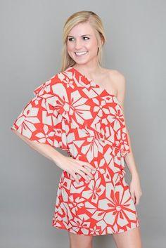 Hawaiian Dreams Dress, Red Dress Boutique