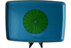 1950s Japanese Lacquerware Tray, Blue on OneKingsLane.com $99