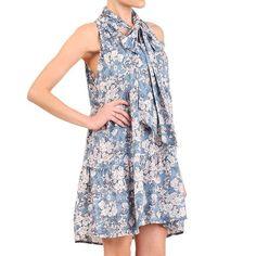 Floral Necktie Dress