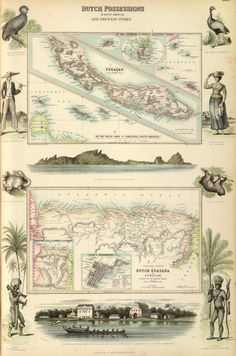 A. Fullarton & Co., 1872, Dutch Possessions in South America & the West Indies