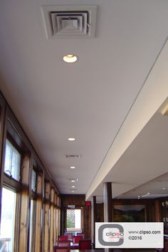 Acoustic ceiling using CLIPSO 495D fabric in the Black Bass Inn-New Hope, PA. Installer: Teknamat Inc.  Architect: JVS Architects. Independent Rep: S&S Resources, Inc.