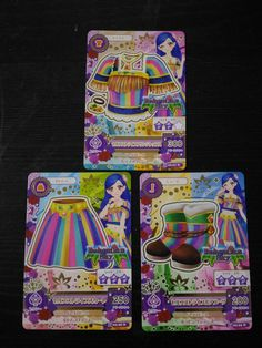 "Trading card of Japanese Animation ""AIKATSU"" Self stripe coordinate"