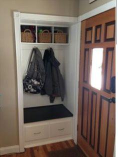 Closet makeover - near front door