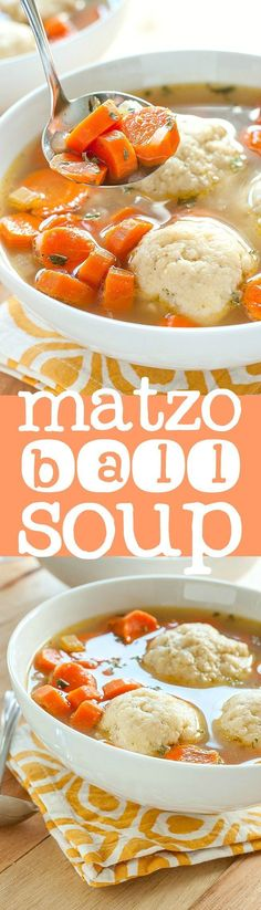 Homemade Matzo Ball Soup recipe - making this for Passover!