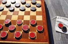 Checkers / Checkerboard Pieces--Rustic & Handmade Wood Pieces for Outdoor/Indoor Use-NEW COLOR OPTIO