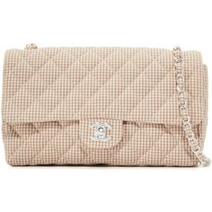 Pre-owned What Goes Around Comes Around Chanel Half Flap Shoulder Bag... (79 700 UAH) ❤ liked on Polyvore featuring bags, handbags, shoulder bags, beige multi, pink quilted purse, beige shoulder bag, pink shoulder bag, quilted handbags and pink purse