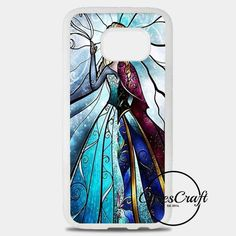 Elsa And Anna As Kids Making Olaf Snowman Samsung Galaxy S8 Plus Case | casescraft
