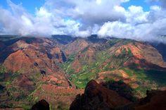 Waimea Canyon - The Grand Canyon of Hawaii. Kauai.