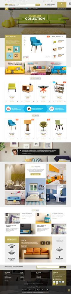 Furnicom modern, luxurious, and professional Premium Responsive #Magento Theme comes with 05 homepage layout styles, which tailored for furniture shop theme, interior stores #eCommerce #website.