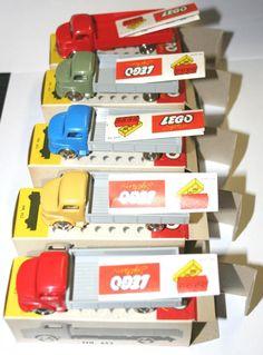 Lego 1:87 Mercedes Pritsche Händlerkarton mit 5 Autos in Einzelkartons selten! | eBay