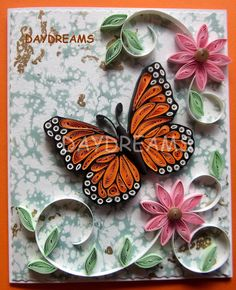 Butterfly paper quilling