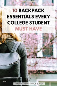 Ready to start your back to school shopping? Here are 10 backpack essentials for girls that you can't forget! College Freshman Tips, First Year Of College, College School Supplies, Scholarships For College, College Hacks, College Students, College Graduation, College Backpack Essentials, College Necessities