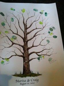 Thumbprint Tree | The Wedding Planner #tree #reception #thumbprint