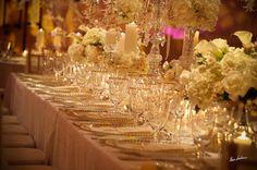 Jennifer J Events - South Florida love the gold trim on the glasses & plates