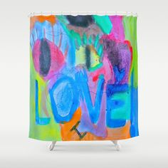 Customize your bathroom decor with unique shower curtains designed by artists around the world. Made from 100% polyester our designer shower curtains are printed in the USA and feature a 12 button-hole top for simple hanging. The easy care material allows for machine wash and dry maintenance. Curtain rod, shower curtain liner and hooks not included. Dimensions are 71in. by 74in. Bathroom Curtains, Shower Curtains, Love Painting, Summer Of Love, Buttonholes, Custom Art, Curtain Rods, Hooks, Artist