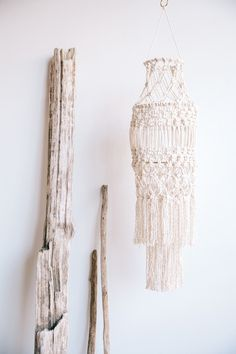 Inspired by my travels, this macrame hanging lantern shade will make any room filled with mystical intrigue. It can be hung by itself, or install an LED light inside to illuminate the knots and cast t