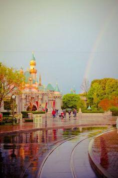 Rainy day at Disneyland - still GORGEOUS!