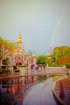 Rainy day at Disneyland - still GORGEOUS!