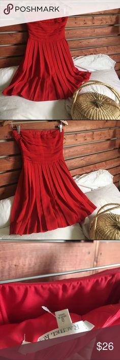 RACHEL by Rachel Roy Red Flowy Strapless Gown EUC. Gorgeous flowy dress. Sturdy quality, lined. RACHEL Rachel Roy Dresses Mini