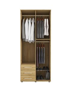 Manhattan 2-door, 3-drawer Mirrored Wardrobe - with a new and improved grain detail Optional home assembly service available* As modern, stylish and vibrant as the place it's named after, this smart wardrobe from our Manhattan range of bedroom furniture flaunts a fabulous grain-effect finish.Available in black ash-effect and white ash-effect, as well as slightly more traditional oak-effect, each option is a brilliant backdrop to the mirrored door and trendy metal handles.With an extra tall…