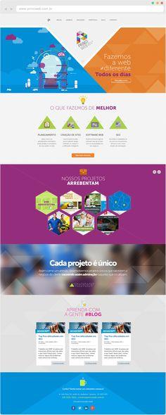 Princi Web Website by Flávia Scudeler, via Behance