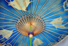 Vintage paper parasol umbrella for your next garden get-together.  Way cool.