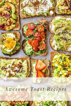 9 Healthy Ways to Eat Toast for Every Meal. Start with a good base and work your way up with these delicious recipes and templates which take no time at all to throw together. Perfect for busy mornings or any time of day really.