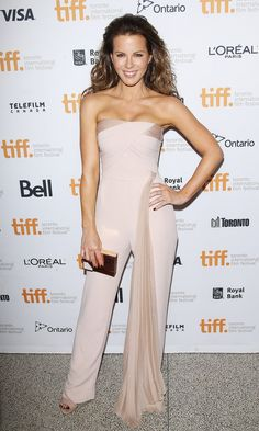 Kate Beckinsale in Azzaro Jumpsuit at Toronto Film Festival | POPSUGAR Style & Trends