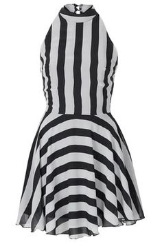 **High Neck Stripe Dress by Love <3