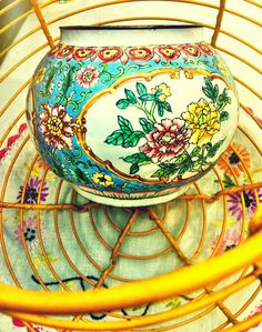 vintage  instant collection  french egg basket  by verdigreen $64.00