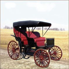 Surrey - Horse Drawn, Auto Top In Black, Base Price $6,095.00 | A Wagon Wheel