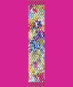 Joyful Spring Bracelet Bead Pattern LOOM by TheBeadedCat on Etsy