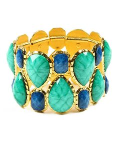 Look what I found on #zulily! Turquoise & Lapis Easter Island Stretch Bracelet #zulilyfinds