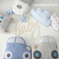 169 Likes, 3 Comments - Бортики и не только ( on. Baby Bedroom, Baby Boy Rooms, Baby Room Decor, Cute Pillows, Baby Pillows, Baby Set, Baby Boy Quilts, Fabric Toys, Handmade Baby