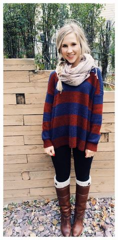 the simple winter outfit- leg warmers and a scarf definitely add to a simple look!
