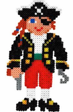 Pirate Hama mini perler beads Perler Beads, Hama Beads Minecraft, Fuse Beads, Minecraft Crafts, Perler Bead Designs, Hama Beads Design, Hama Mini, Pearler Bead Patterns, Perler Patterns