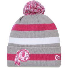 2dbe2f598b2 Men s New Era Washington Redskins Breast Cancer Awareness On Field Knit Hat  All Nfl Teams