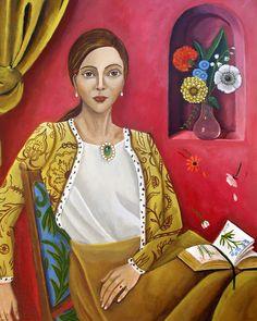 Catherine Nolin Art Studio: Poets and Falling Flowers-New Work