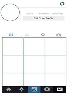 instagram profile project template - Google Search