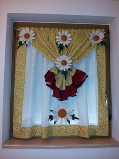 Más cortinas Country Curtains, Rustic Curtains, Hanging Curtains, Diy Curtains, Kitchen Curtains, Sewing Crafts, Sewing Projects, Projects To Try, Cortinas Country